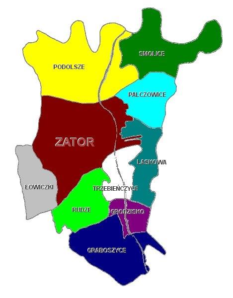 Mapa Sołectw Zatora